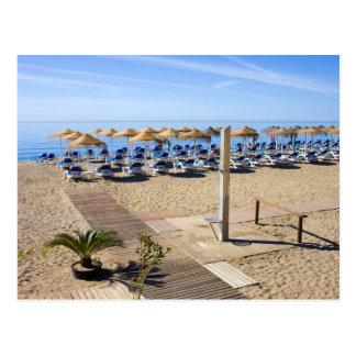 Cartão Postal Praia de Marbella em Costa del Sol na espanha