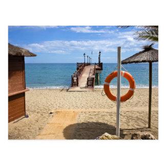 Cartão Postal Praia de Marbella na espanha