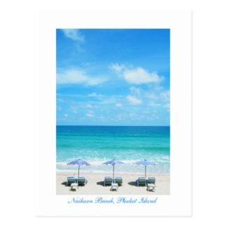 Cartão Postal Praia de Naiharn, ilha de Phuket