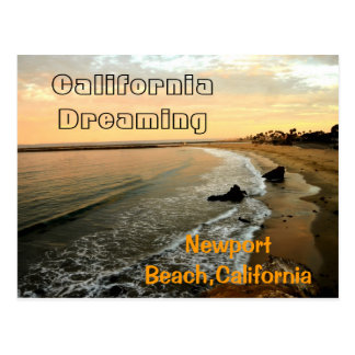 Cartão Postal Praia de Newport em Corona del Mar