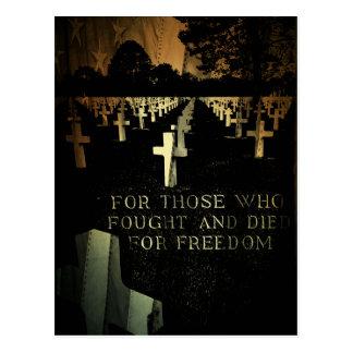 Cartão Postal Praia de Normandy do dia de veteranos