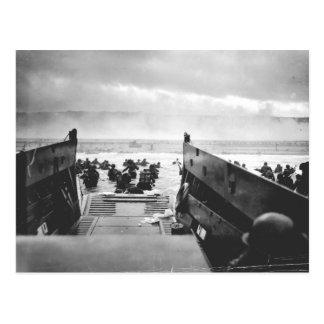 Cartão Postal Praia de Omaha, Normandy, dia D 1944