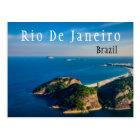 Cartão Postal Praia de Rio De Janiero Brasil