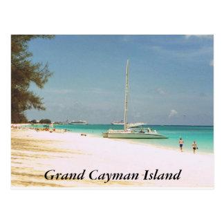 Cartão Postal Praia de sete milhas, ilha de Grande Caimão