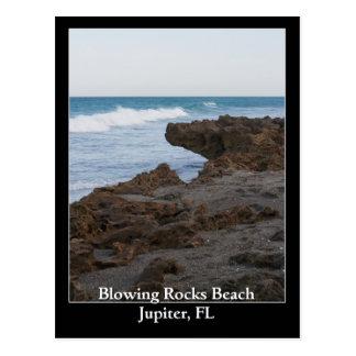 Cartão Postal Praia de sopro Jupiter das rochas, FL