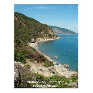 Cartão Postal Praia de Ucrânia o Mar Negro