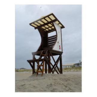 Cartão Postal Praia de Wrightsville do suporte do Lifeguard