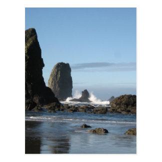 Cartão Postal Praia do canhão e papel de envolvimento da rocha