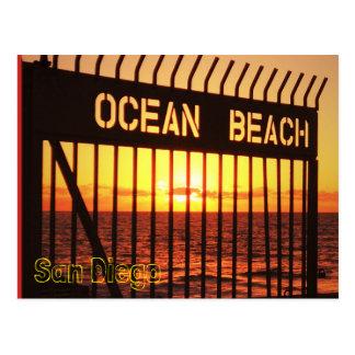 Cartão Postal Praia do oceano