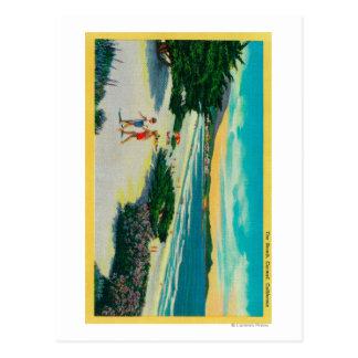 Cartão Postal Praia do oceano em Carmel, CACarmel, CA