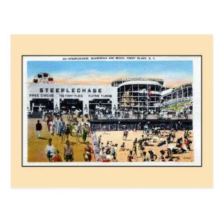 Cartão Postal Praia do passeio à beira mar da corrida de