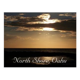 Cartão Postal Praia do por do sol, Oahu