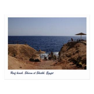 Cartão Postal Praia do recife, Sharm el Sheikh, Egipto