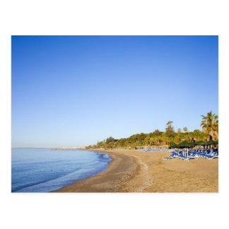 Cartão Postal Praia em Costa del Sol em Marbella