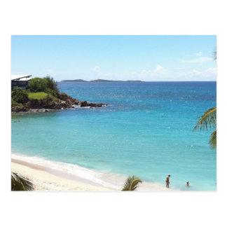 Cartão Postal Praia em St Thomas