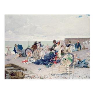 Cartão Postal Praia em Yport, 1878 (óleo em canvas)
