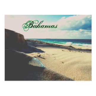 Cartão Postal Praia encalhada da garrafa
