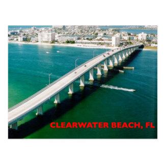 CARTÃO POSTAL PRAIA FLORIDA DE CLEARWATER
