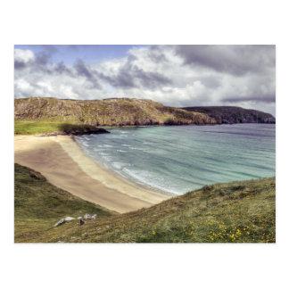 Cartão Postal Praia Hebrides exterior de Clibhe