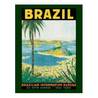 Cartão Postal Praia litoral de Rio de Janeiro Brasil das viagens