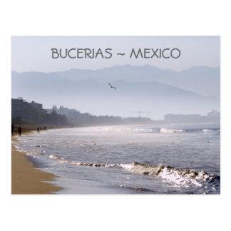 Cartão Postal Praia México de Bucerias do amanhecer