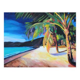 Cartão Postal Praia na baía St Thomas E.U. Virgin Islands de