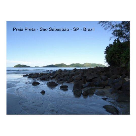 Cartão Postal Praia Preta - Brazil