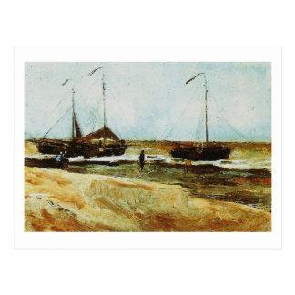 Cartão Postal Praia Scheveningen, tempo calmo, Vincent van Gogh