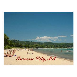 Cartão Postal Praia transversal da cidade