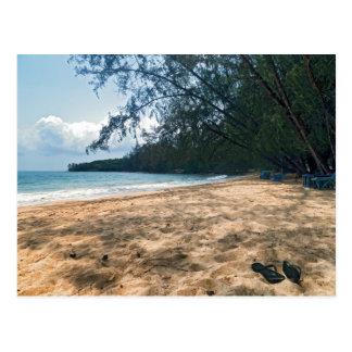 Cartão Postal Praia tropical da ilha, Cambodia