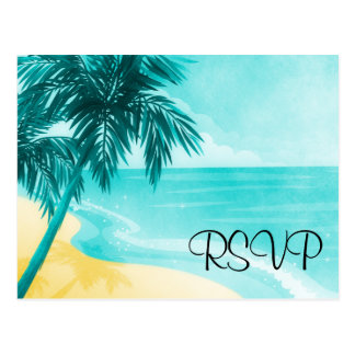 Cartão Postal Praia tropical RSVP
