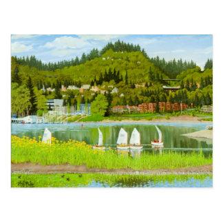 Cartão Postal Prams que navegam o cartão, Portland Oregon