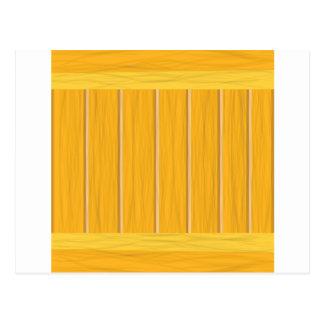 Cartão Postal pranchas de madeira