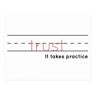 Cartão Postal prática da confiança |