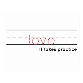 Cartão Postal prática do amor |