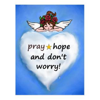 Cartão Postal Pray, esperança e não se preocupe!