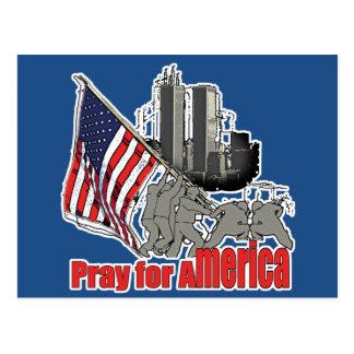 Cartão Postal Pray para América