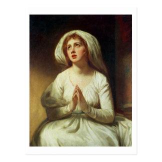 Cartão Postal Praying da senhora Hamilton