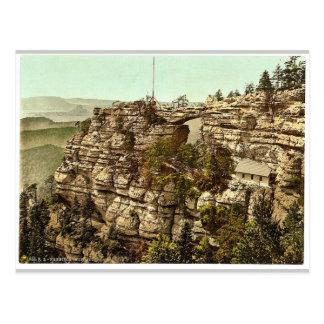 Cartão Postal Prebischtor e o Kirkelstein, Switzerl boémio