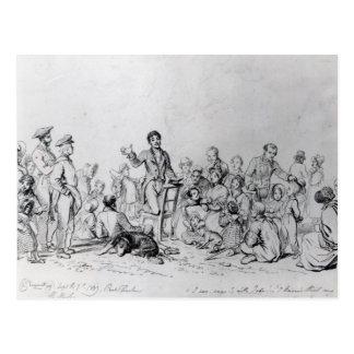 Cartão Postal Pregador de The Field, 1837