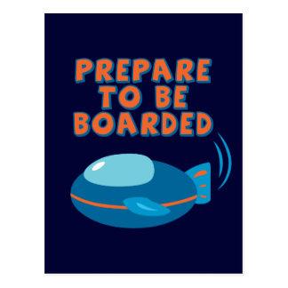 Cartão Postal Prepare para ser embarcado