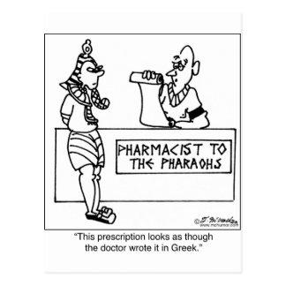 Cartão Postal Prescrição egípcia escrita dentro