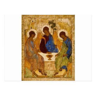 Cartão Postal Presente católico bizantino de Rublev do ícone da