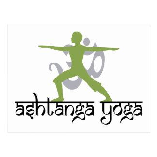 Cartão Postal Presente da ioga de Ashtanga da pose do guerreiro