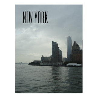 Cartão Postal Presente de New York Manhattan o Rio Hudson