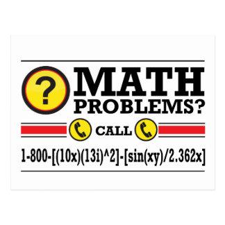 Cartão Postal Presente do humor do tutoria da matemática