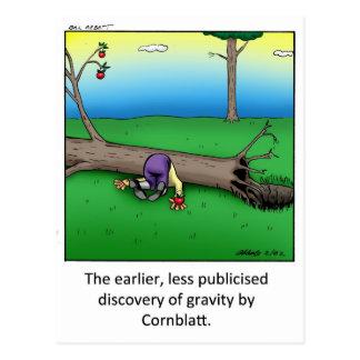 Cartão Postal Presente engraçado da arte dos desenhos animados