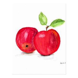 Cartão Postal Presente frutado do jardineiro da pintura das