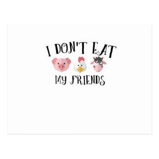 Cartão Postal Presentes animais do vegetal do vegetariano do