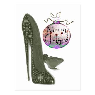 Cartão Postal Presentes da arte do estilete e do Bauble do Natal